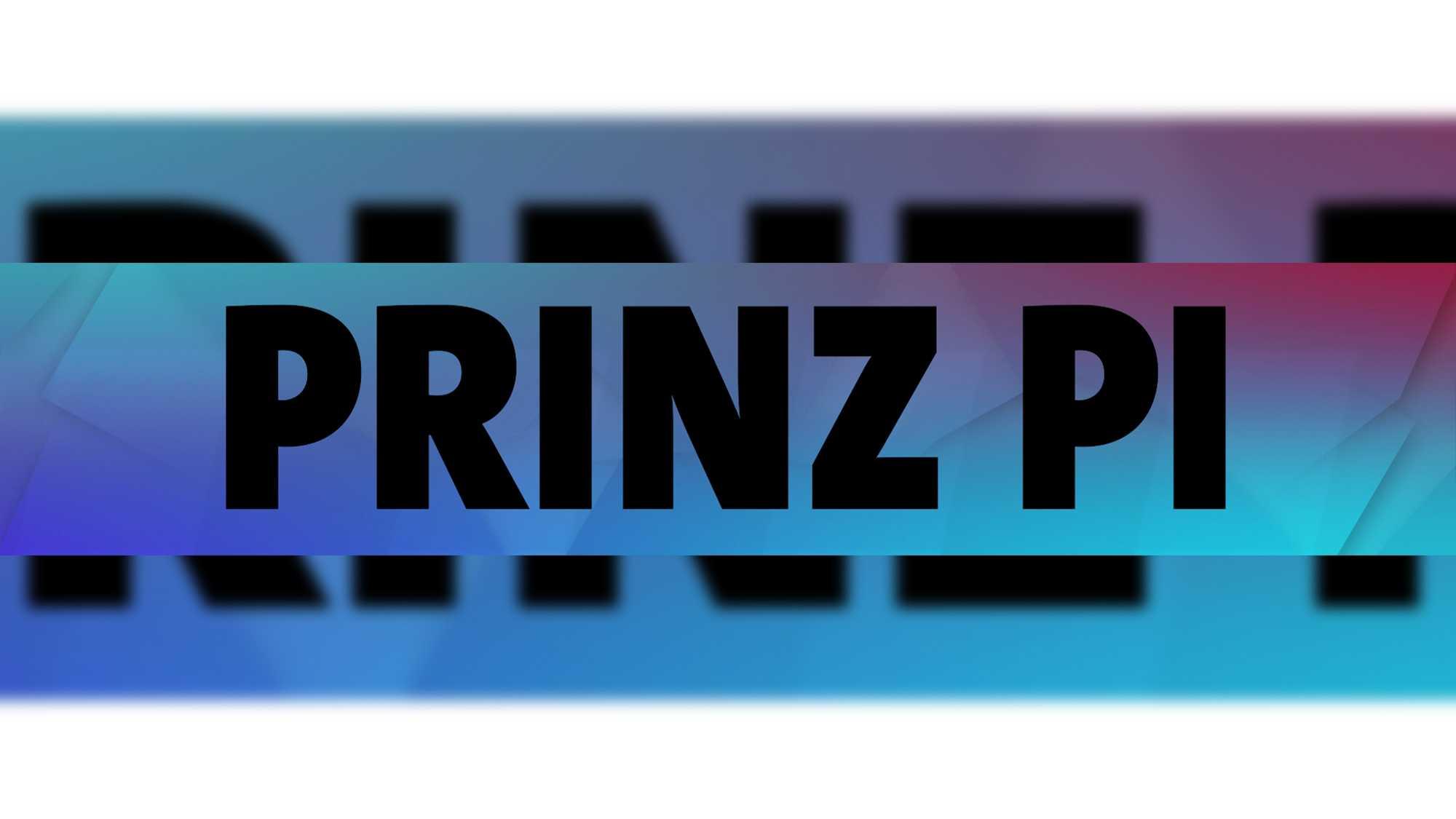 Das Bild zeigt einen Banner auf dem in schwarzer Schrift Prinz PI steht. Das Wort ist mit einer schwarzen, gestrichelten Linie umrahmt. Der Banner liegt auf einem weißen Hintergrund. Die Farbe des Banners ist blau, rot, lila. Das Bild dient als Sliderbild für den Portfolioeintrag GEMA – Deutscher Musikautorenpreis von Panda Pictures.