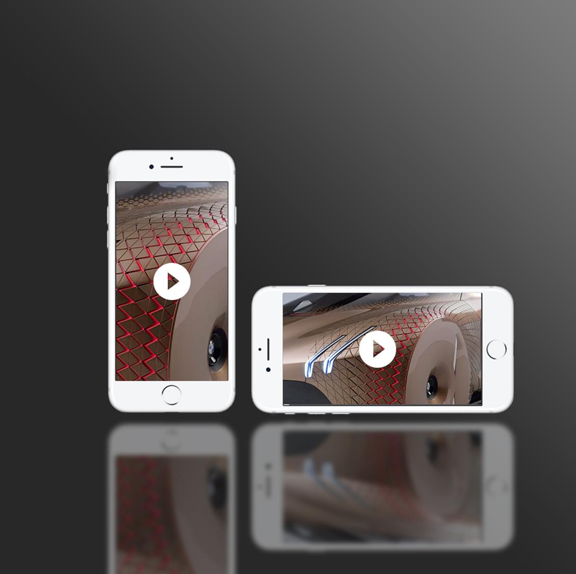 Horizontale vs vertikale Videos
